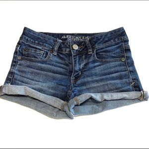 American Eagle Super Stretch Shortie Jean Shorts